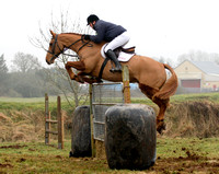 International show jumper Trevor Breen winning the Scarteen gate jumping competition, Garryspillane, January 23rd 2011
