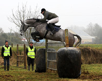 International event rider Michael Ryan taking part in the Scarteen gate jumping competition, Garryspillane, January 23rd 2011