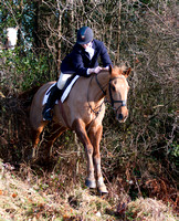 Former European pony show jumping champion Kellie Allen out with the Bree Foxhounds @ Davidstown. January 19th 2011